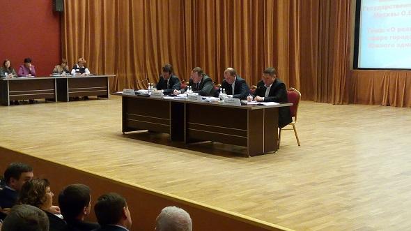 Встреча префекта ЮАО А.В.Челышева с жителями округа