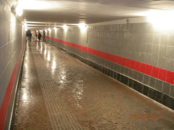Отремонтированный подстанционный переход Бирюлево Пассажирская